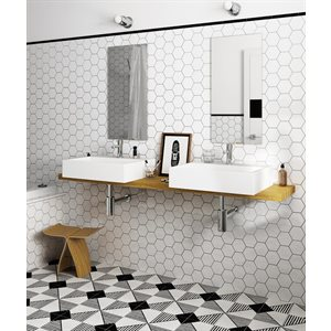 Série Hexagon * 4x4 blanc