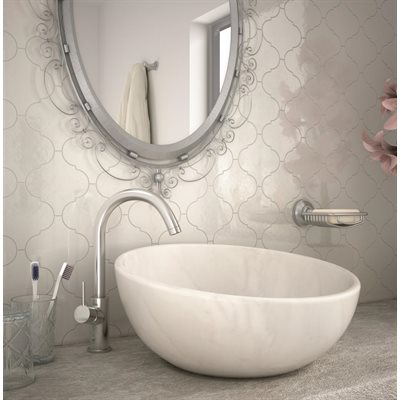Série Alhambra • 5x5 blanc poli