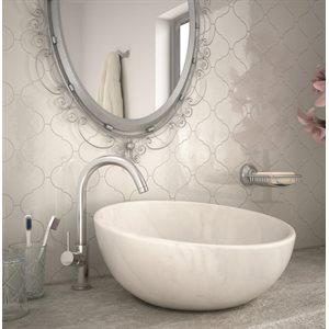 Série Alhambra * 5x5 blanc poli