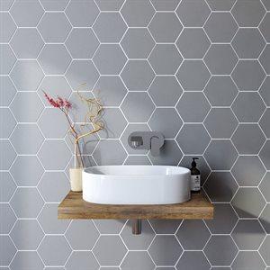 Série Hexagon * 4x4 gris