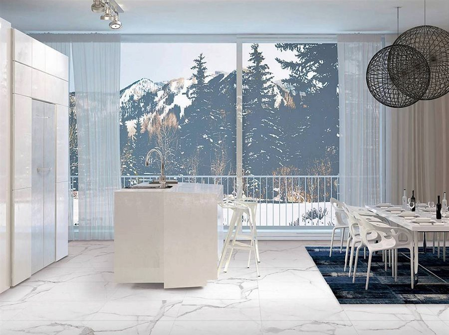 ceramique imitation marbre cuisine serie Alsacia